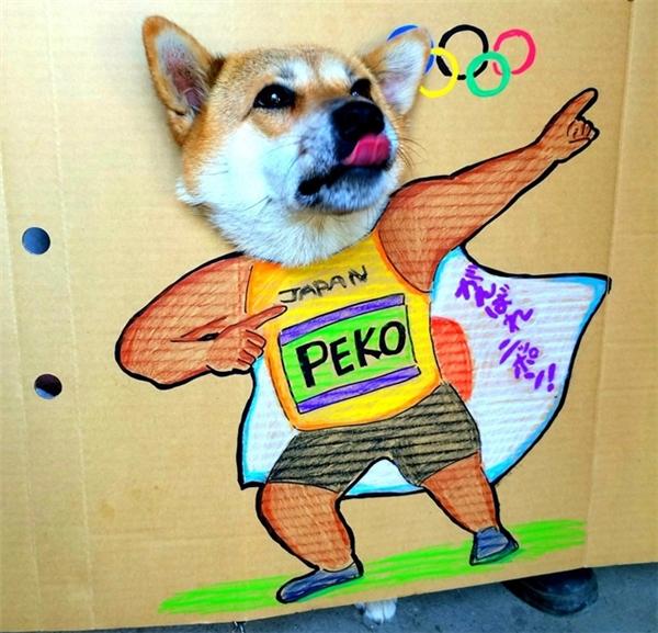 Một chú chó Shiba cũng đã hưởng ứng trào lưu này.