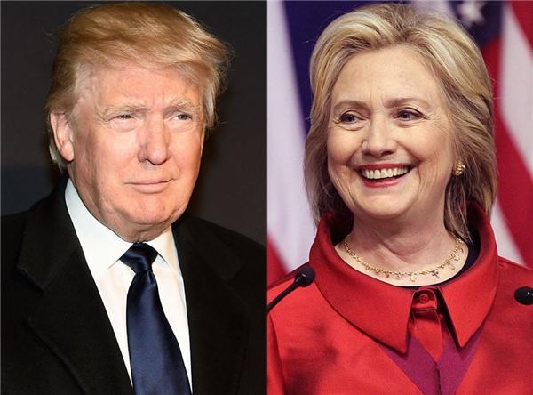 2 ứng cử viên cho chiếc ghế Tổng thống Mỹ năm nay là ôngDonald Trumpvà bàHillary Clinton. (Ảnh: internet)