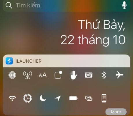 Bạn đã có một thanh thông báo mới có chức năng bật, tắt nhanh 3G và một số ứng dụng tùy chọn. (Ảnh: internet)