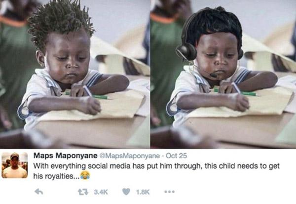 Bức ảnh cậu bé Jake từ 11 tháng trước đây bỗng nhiên trở nên nổi tiếng.
