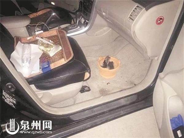 Chậu than được phát hiện ở bên dưới ghế lái phụ.