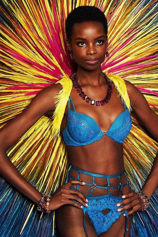 Jasmine Tookes mới trở thành thiên thần một năm nay. Dù chỉ 21 tuổi nhưng cô nàng chính là chủ nhân của chiếc Fantasy Bra trị giá 67 tỉ VNĐ của Victoria's Secret Fashion Show 2016.   Maria Borges là người mẫu gốc Phi đã 3 lần góp mặt trong Victoria's Secret Fashion Show và cũng là người mẫu đầu tiên diện kiểu tóc afro đặc trưng của người da đen lên sàn diễn này.
