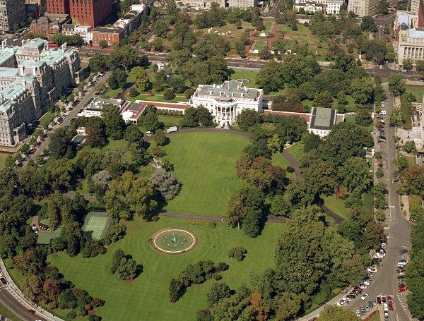 Khu South Lawn nhìn từ trên cao.