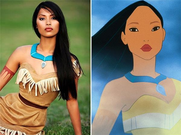 Bạn có nhận thấy Pocahontas sau bức màn chiếu kiêu kì và quyến rũ hơn không?(Ảnh: Internet)