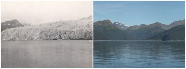 Sông băng McCarty, Alaska (07/1909 - 08/2004)