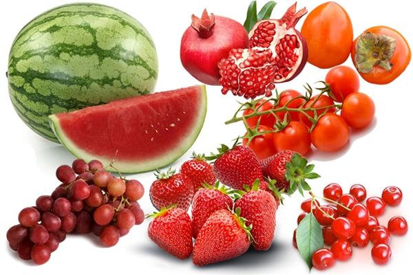 Trái cây có màu đỏchứa các carotenoid và lycopene và rất nhiều vitamin. (Ảnh: internet)