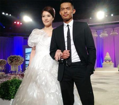 Lâm Đan và vợ.