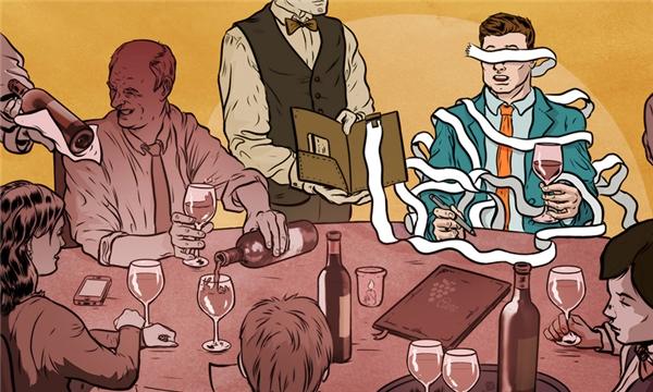Trên bàn nhậu bao giờ cũng có hai loại người: một loại say sưa uống quên cả trời đất, và một loại lúc nào cũng giành trả tiền.