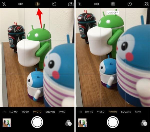 Cách tắt tính năng Live Photo trên iPhone. (Ảnh: internet)