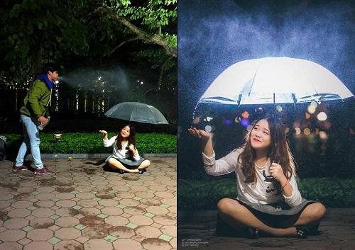 """Thêm một màn """"tạo mưa"""" đầy nghệ thuật"""