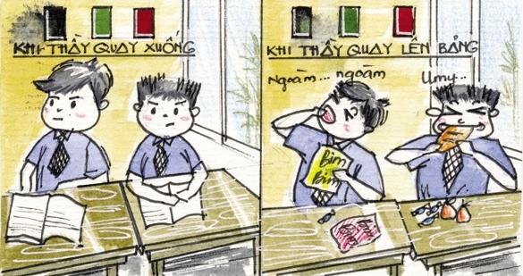 """""""Vấn nạn"""" muôn thuở của tuổi học trò.(Ảnh: Minh họa)"""