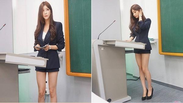 Hyun Seo là giảng viên quyến rũ nổi tiếng của xứ Kim Chi.