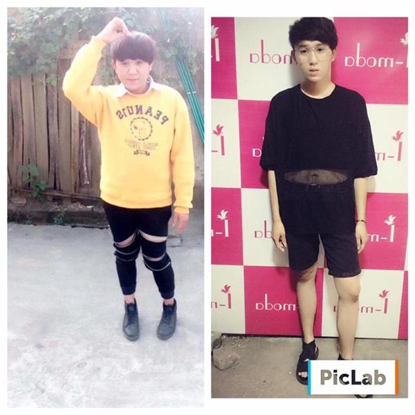 Chàng trai này chỉ sau 1 tháng 10 ngày đã giảm cân thành công từ 95kg xuống còn 58kg. Bạn nghĩ sao về sự thay đổi ngoại hình ngoạn mục đếnthế này?(Ảnh: Internet)