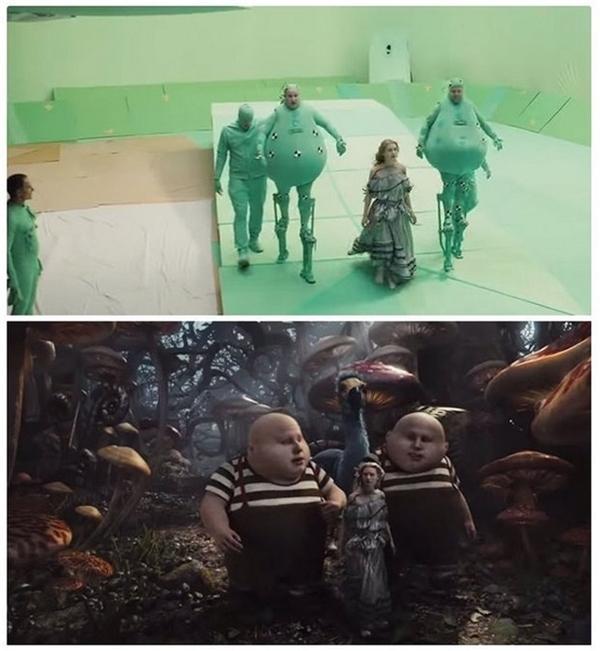 Các nhân vật đáng sợ kia thực chất do người đóng và được chỉnh sửa bằng công nghệ.