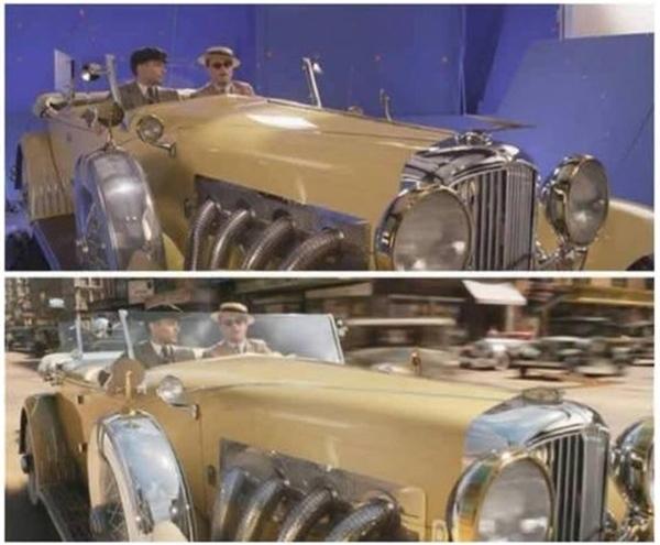 Khung cảnh xưa cũ xung quanh hai diễn viên của The Great Gatsby đều được tái hiện bằng máy tính.