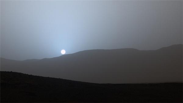 Hoàng hôn trên sao Hỏa sẽ trông như thế này.