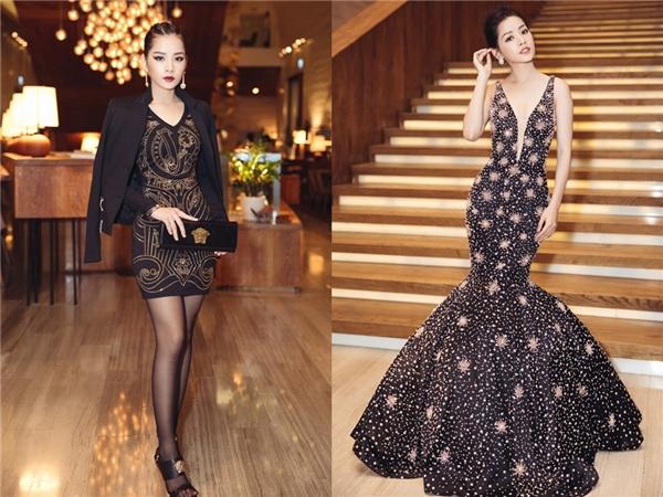 Dù sở hữu vẻ ngoài ngọt ngào, mong manh nhưng Chi Pu lại liên tục khiến khán giả bất ngờ khi biến hóa với những phong cách tương phản nhau. Diện cả cây hàng hiệu Versace, nữ diễn viên vẫn ghi điểm tuyệt đối, không hề kém cạnh sự điệu đà, quyến rũ với váy đuôi cá, voan lụa nhẹ nhàng.