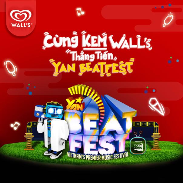 Ăn kem WALL'S để có cơ hội tham dự Yan Beatfest 2016.