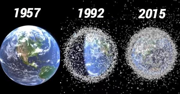 Trái đất trước và sau khi phóng các vệ tinh, tên lửa, thiết bị hàng không vào vũ trụ.