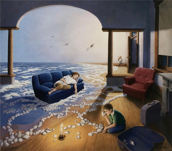 Tiếng sóng biển vỗ về ru ta vào giấc ngủ yên bình.