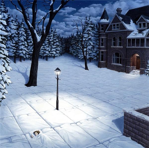 Ánh đèn sưởi ấm cho giấc ngủ của ta trong đêm đông.