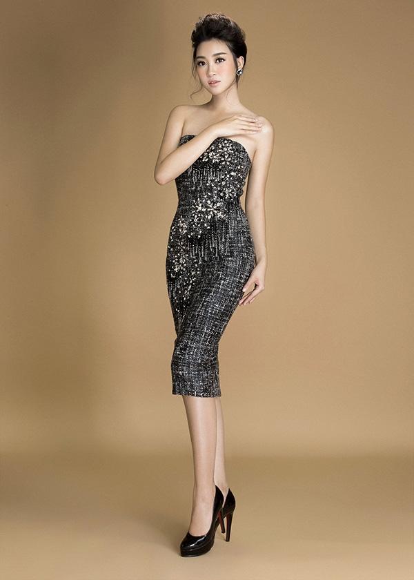 Đỗ Mỹ Linh đẹp hút hồn với loạt váy áo sắc đen huyền diệu