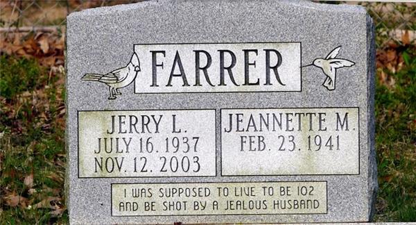 Tôi hẳn sẽ sống đến năm 102 tuổi nhưng rồi bị lão chồng hay ghen bắn chết.(Ảnh: Internet)