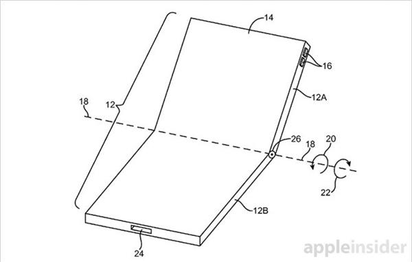Mẫu thiết kế trong bằng sáng chế của Apple. (Ảnh: internet)
