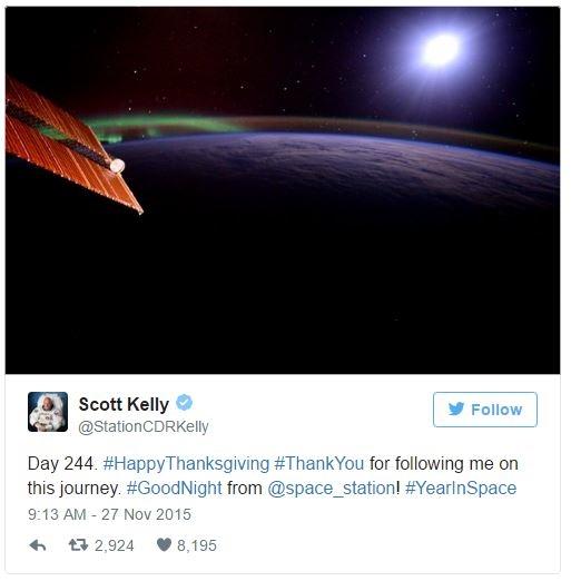 Độc đáo Lễ Tạ ơn ngoài không gian