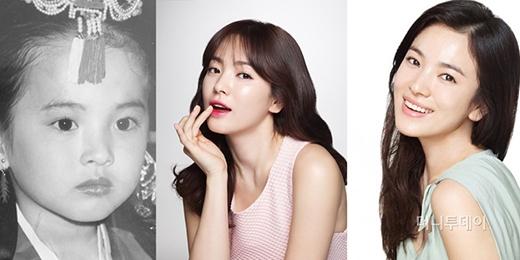 """Song Hye Kyo""""chị đẹp từ tấm bé các em nhé""""."""
