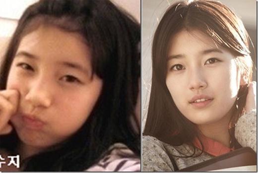 """Dậy thì thành công nhờ...đẹp từ tấm bé.""""Teen so cute"""" Suzy đã trưởng thành và xinh đẹp."""