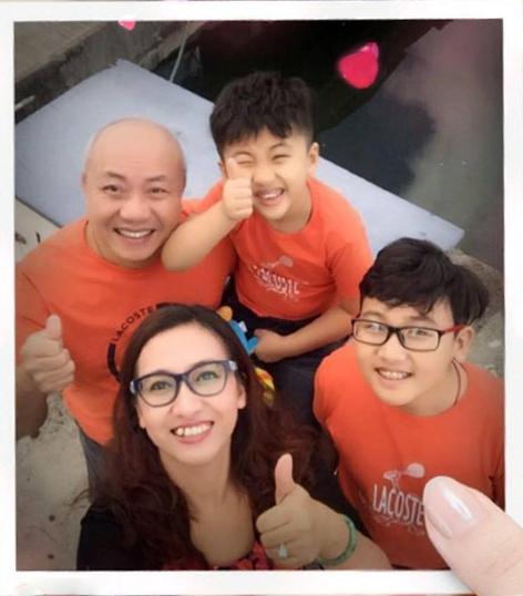Gia đình nhỏ hạnh phúc của BTV Vân Anh.