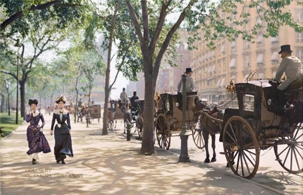 Quảng trường Madison, New York, 1900.