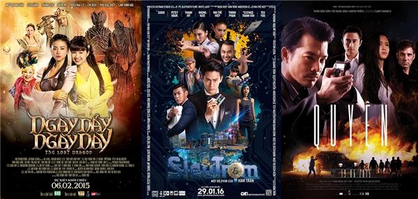 Các phim điện ảnh Việt mà Huy Nguyễn từng tham gia thực hiện các hiệu ứng kỹ xảo.