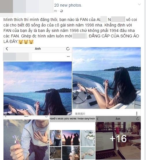 """Một tài khoản mạng xã hội cho biết không chỉ """"vay mượn"""" hình ảnh, cô nàng còn nói dối cả tuổi tác khi chia sẻ bản thân sinh năm 1994, thay vì năm sinh thật là 1998."""