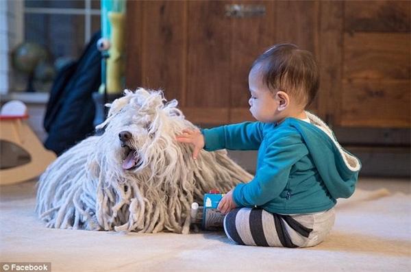 """Tháng trước, Mark đã không kiềm được sự thích thú khi Max chơi rất vui với Beast, chú chó cưng của gia đình, và tiết lộ rằng từ đầu tiên cô bé thốt ra là """"chó""""."""