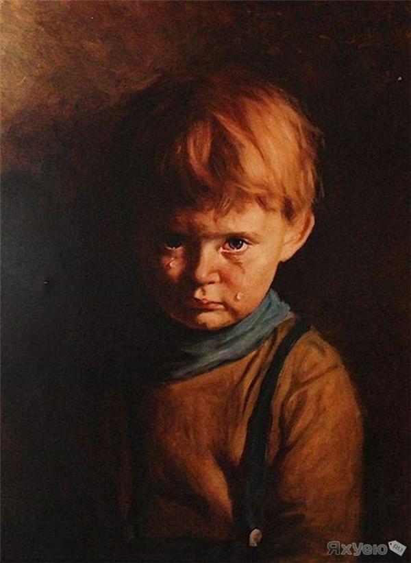 Bức tranh cậu bé khóc gây tai ương khắp nước Anh.