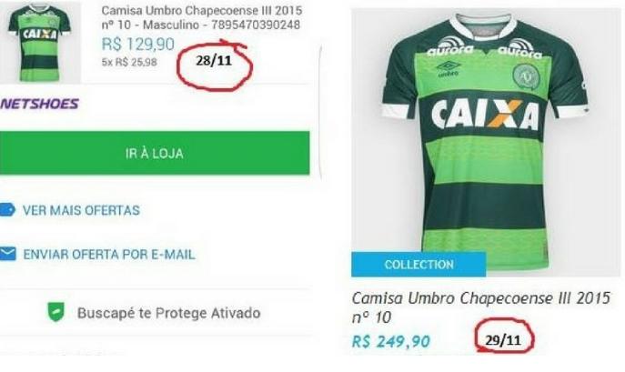 Giá áo đấu tăng gần gấp đôi.