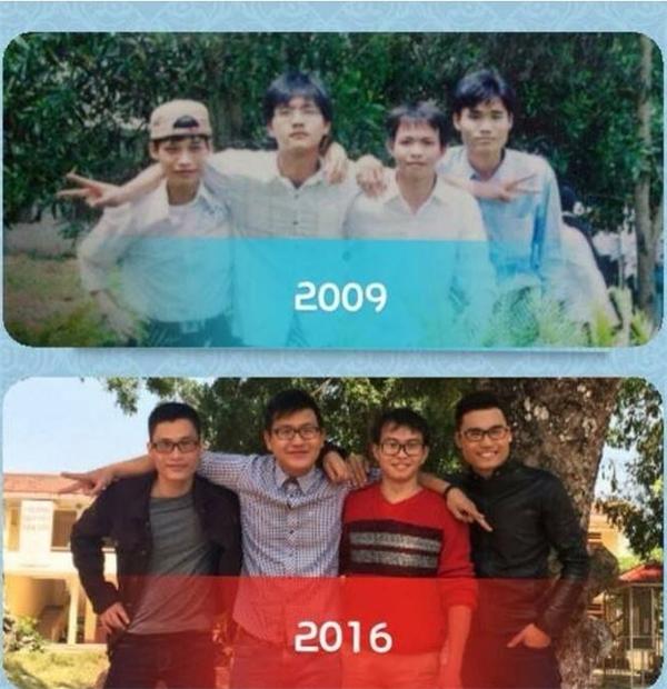 Tình bạn sau 7 năm sự đổi khác là...cùng nhau cận.(Ảnh: Internet)