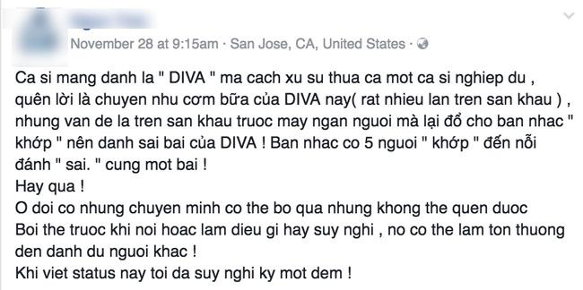 Diva Hà Trần bất ngờ bị tố