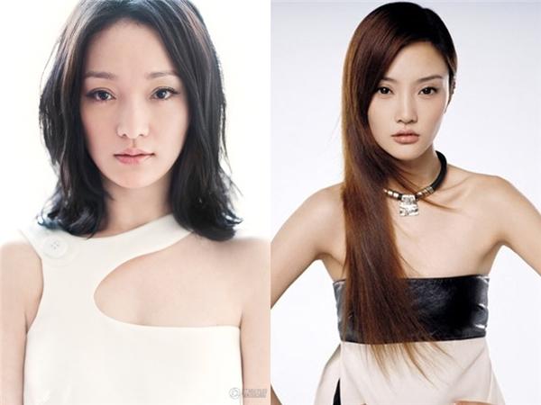Châu Tấn (trái)- Lý Tiểu Lộ (phải) vốn đã có nhan sắc xinh đẹp hao hao nhau.(Ảnh: Internet)