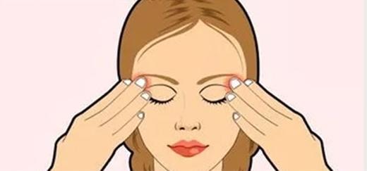 Giảm căng thẳng cho mắt bằng lực tác động phù hợp từ các ngón tay.
