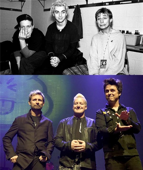 Green Day: Sau khi trải qua nhiều thăng trầm kể từ khi ra mắt vào năm 1986, nhóm đạt được thành công vang dội với album American Idiot. Tháng 10/2016, họ ra mắt album Revolution Radio và vẫn đang tích cực đi tour để quảng bá.