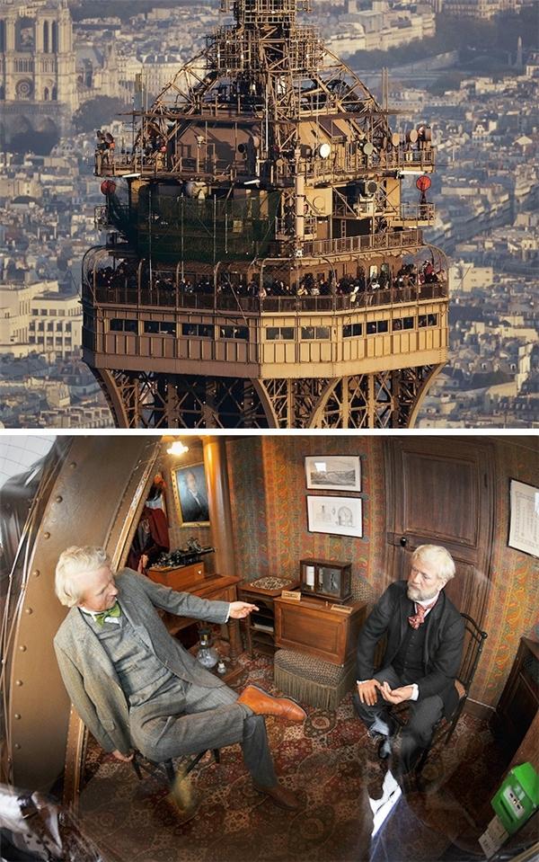 Gustave Eiffel, người thiết kế tháp Eiffel – công trình nổi tiếng nhất nước Pháp, đã xây dựng cho mình một căn hộ nằm ở tầng trên cùng của tháp Eiffel. Ông thường sử dụng nơi này để nghỉ ngơi và tiếp khách. Trong căn hộ này có nhà bếp, phòng tắm, hai phòng ngủ và một phòng khách. Hiện nay, căn hộ này được sử dụng làm bảo tàng, trong đó có trưng bày tượng của Gustave Eiffel và Thomas Edison được làm từ sáp.