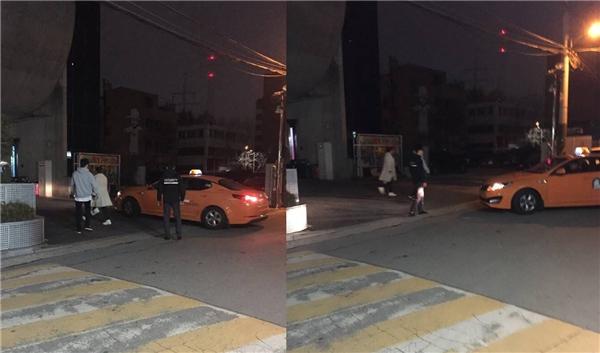 Vào khoảng 8:50 tối ngày hôm qua Park Bom xuất hiện tại tòa nhà YG.