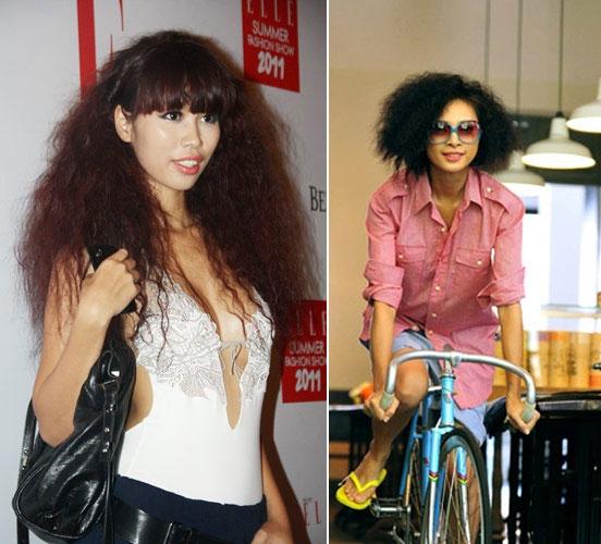 Mái tóc của các chị em được làm cho xù bông, càng xù càng sành điệu.(Ảnh: Internet)