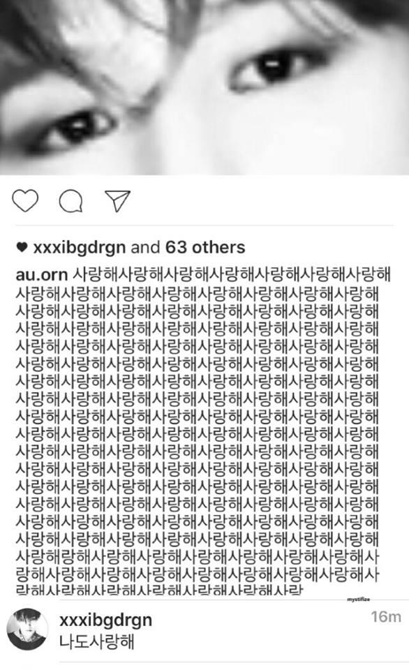 """Trước lời tỏ tình """"vừa lầy, vừa nhây"""" của fan, G-Dragon đã comment """"Anh cũng yêu em"""" khiến fan """"chết ngất""""."""