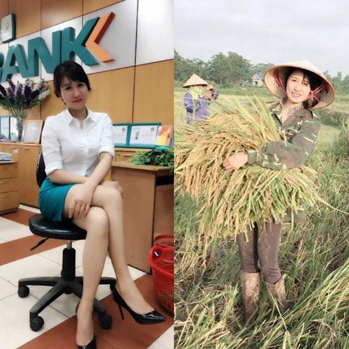 Hình ảnh cô gái nông thôn xinh đẹp tay ôm bó lúa cười rạng rỡ từng được rất nhiều người chú ý vào giữa năm 2016.