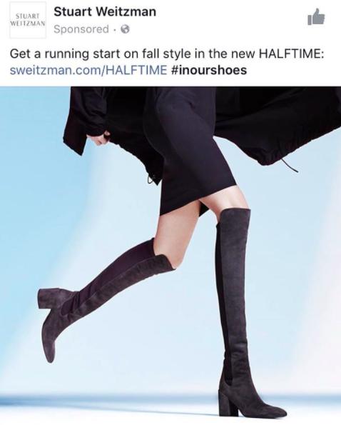 Bạn có nhận thấy, đôi chân của người mẫu trong quảng cáo của Stuart Weitzman trông rất phi logic.