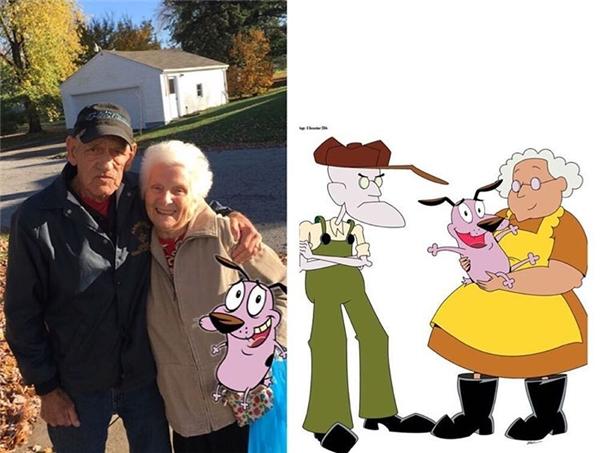 """Chắc chỉ có ông cháu """"láo lếu"""" này mới dám gọi bà nội của mình và ông già hàng xóm là cặp vợ chồng già trong phim hoạt hình Chú Chó Nhút Nhát."""